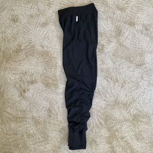 Zella Parachute Knit Side Ruched Black Pant